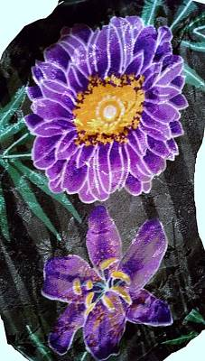 Poster featuring the photograph Purple Silk by Fortunate Findings Shirley Dickerson