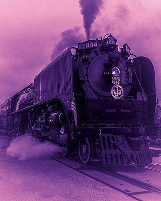 Poster featuring the photograph Purple Smoke by Bartz Johnson