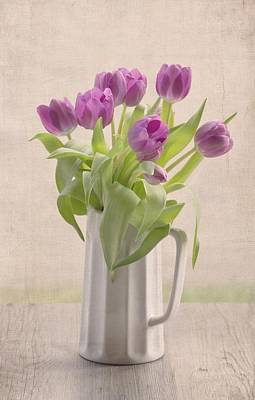 Purple Spring Tulips Poster