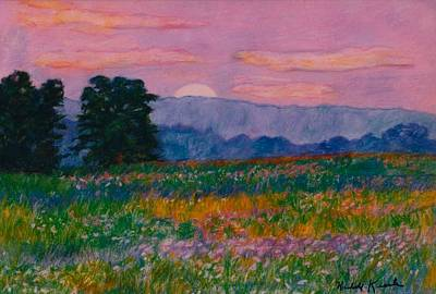 Purple Sunset On The Blue Ridge Poster