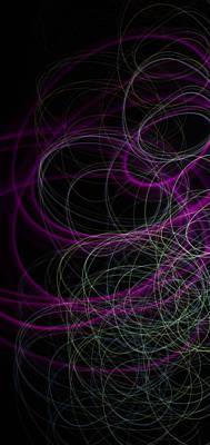 Purple Swirls Poster