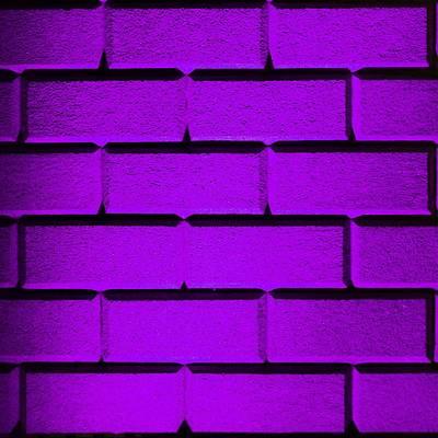 Purple Wall Poster