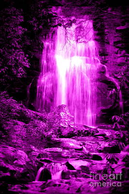 Purple Waterfall Poster