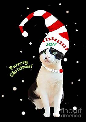 Purrrrry Christmas Poster by Tarinee Kulchol
