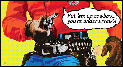 Put Em Up Poster by Gary Grayson