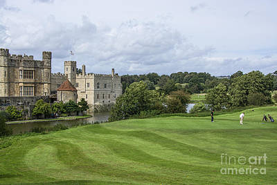 Putting At Leeds Castle Golf Course Poster by Chris Thaxter