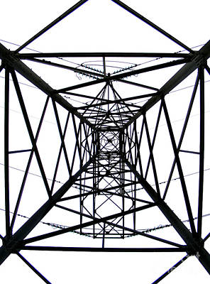 Poster featuring the photograph Pylon by Nina Ficur Feenan
