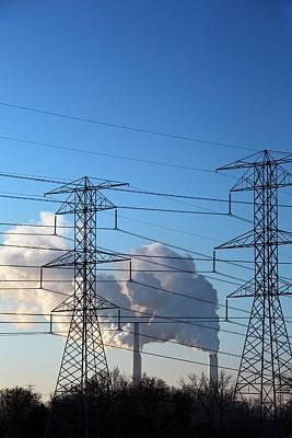 Pylons And Coal-fired Power Station Poster