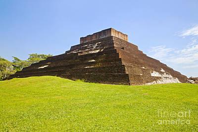 Pyramid At Comalcalco Poster by Ellen Thane