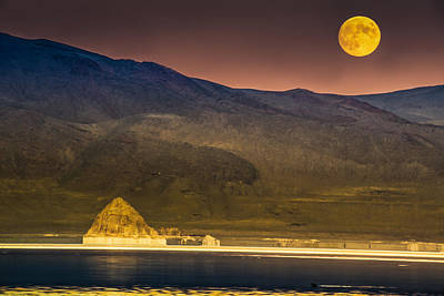 Pyramid Lake Moonrise Poster