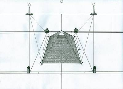Poster featuring the painting Pyramid by Richie Montgomery