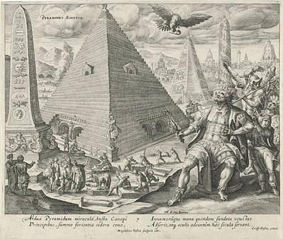 Pyramids Of Egypt, Magdalena Van De Passe Poster by Magdalena Van De Passe And Crispijn Van De Passe (i)