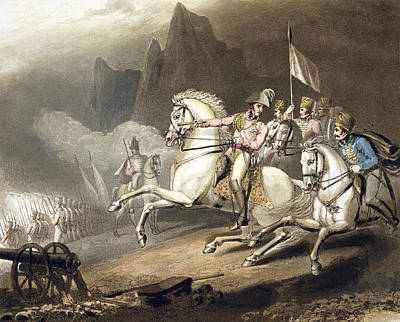 Pyrenees, 28th July 1813, From The Poster by Richard Westall