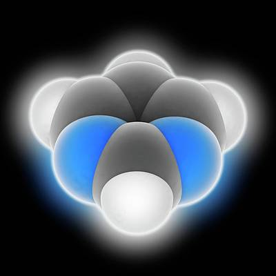 Pyrimidine Molecule Poster by Laguna Design