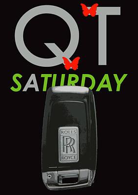 Qt Saturday Rolls Royce Poster by Dean ILDEFONSE