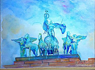 Quadriga Above The Arch At Grand Army Plaza Poster