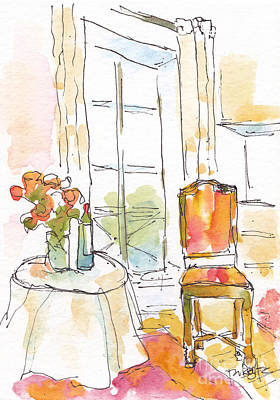 Quai Aux Fleurs - Paris Poster by Pat Katz