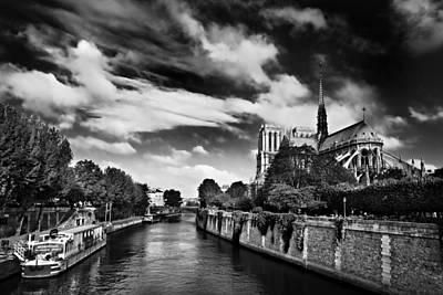 Quai De Montebello And Notre Dame Cathedral / Paris Poster