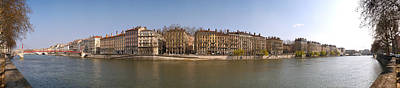 Quai Du Marechal Joffre Along The Saone Poster by Panoramic Images