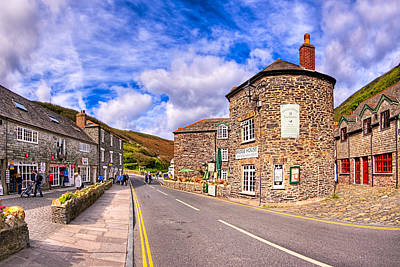 Quaint Cornwall In The Little Village Of Boscastle Poster