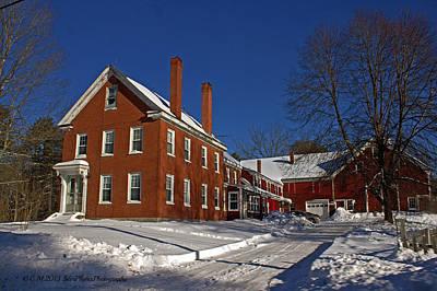 Quaint Maine Winter Farm Poster
