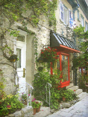 Quaint Street Scene Quebec City Poster