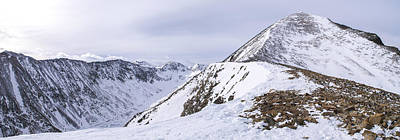 Quandary Peak Panorama Poster by Aaron Spong