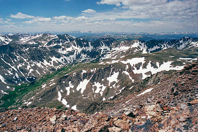 Quandry Peak 14264 Poster by Robert VanDerWal