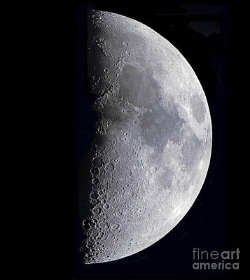 Quarter Moon Poster by Alan Dyer