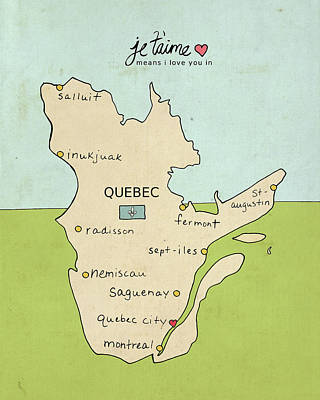 Quebec Poster by Lisa Barbero