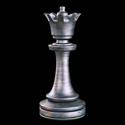 Queen Chess Piece Poster