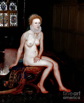 Queen Elizabeth I Seated Nude Poster