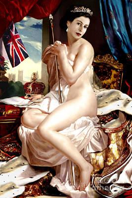 Queen Elizabeth II Nude Portrait Poster
