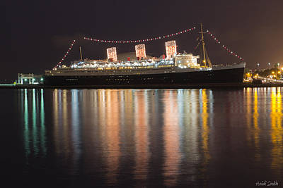 Queen Mary Decked Out For The Holidays Poster