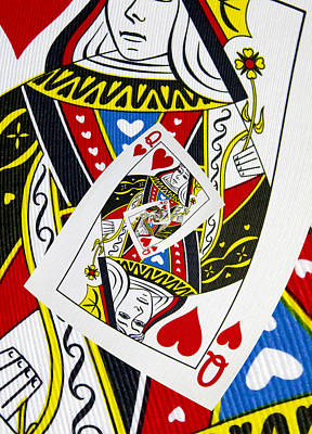 Queen Of Hearts Collage Poster