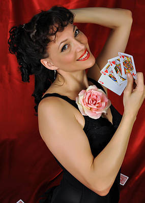 Poster featuring the photograph Queen Of Hearts by Jim Poulos