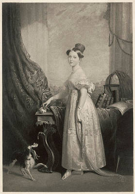 Queen Victoria  A Portrait From 1838 Poster