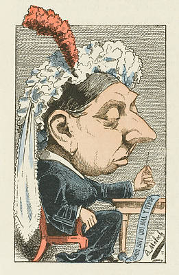 Queen Victoria  Cartoon Poster