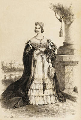 Queen Victoria  Illustration From 1852 Poster