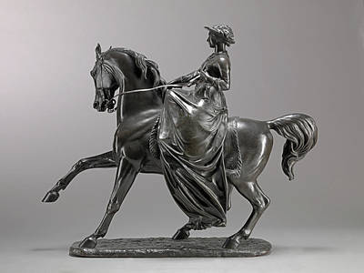 Queen Victoria On Horseback Incised On Front Edge Art,- Poster