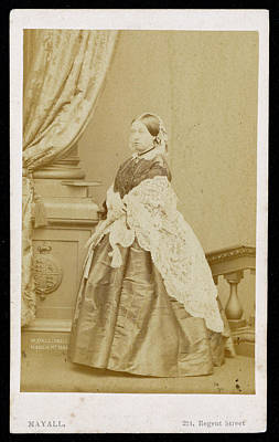 Queen Victoria  Photograph Taken Poster