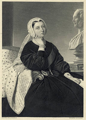 Queen Victoria  Picture From 1864 Poster