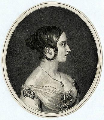 Queen Victoria  Profile In 1841 Poster