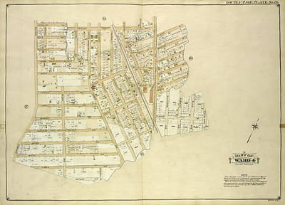 Queens, Vol. 1, Double Page Plate No. 26 Part Of Ward 4 Map Poster