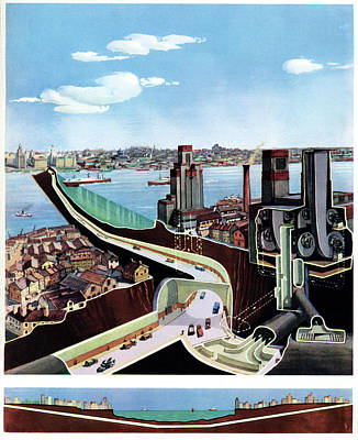 Queensway Tunnel Poster by Cci Archives