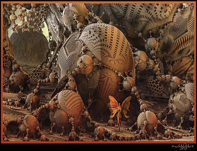 Poster featuring the digital art Quetzalcoatl by Melissa Messick