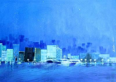 Quiet City Night Poster