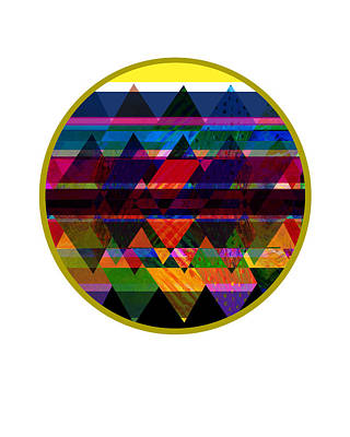 Quilt Inspired Abstract Poster by Ann Powell