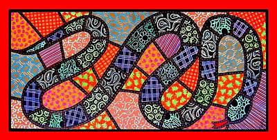 Quilted Black Snake Poster