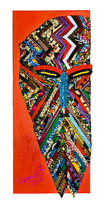 Poster featuring the tapestry - textile Quilted Warrior by Apanaki Temitayo M